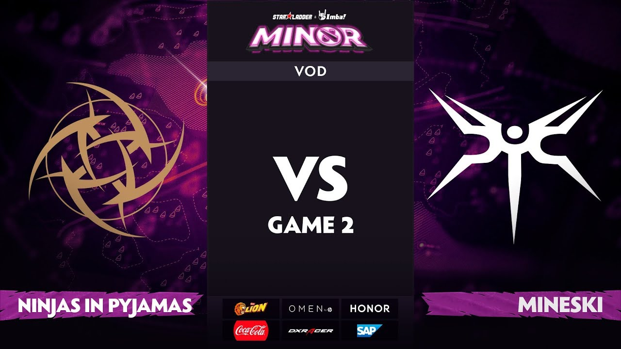 [RU] Ninjas in Pyjamas vs Mineski, Game 2, StarLadder ImbaTV Dota 2 Minor S2 Group Stage