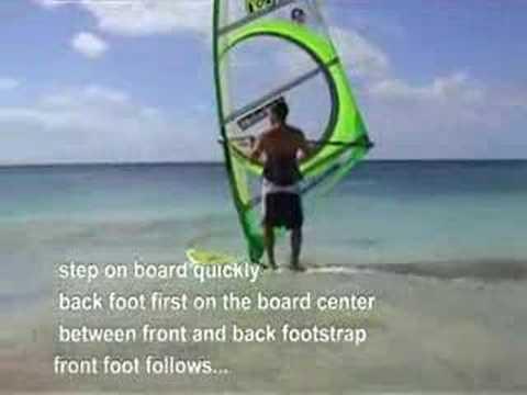 Windsfurfing beachstart