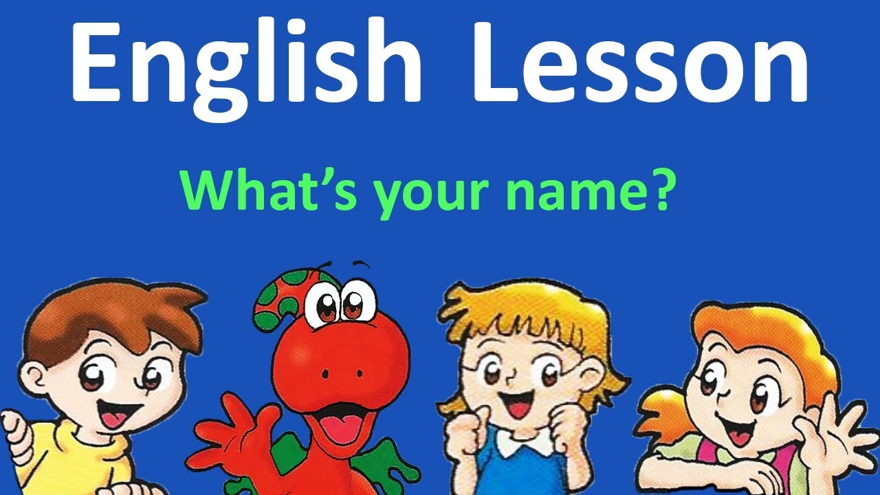 Download English Lesson 1 -  Hello. What's your name? | English with cartoons and songs from Gogo