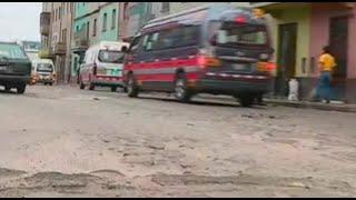 La Victoria: conductores mortificados por pistas en pésimo estado
