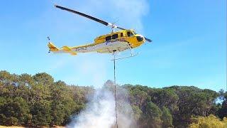 Vietnam-Era Huey Helicopter Firefighting display at Fire & Fynbos Awareness day