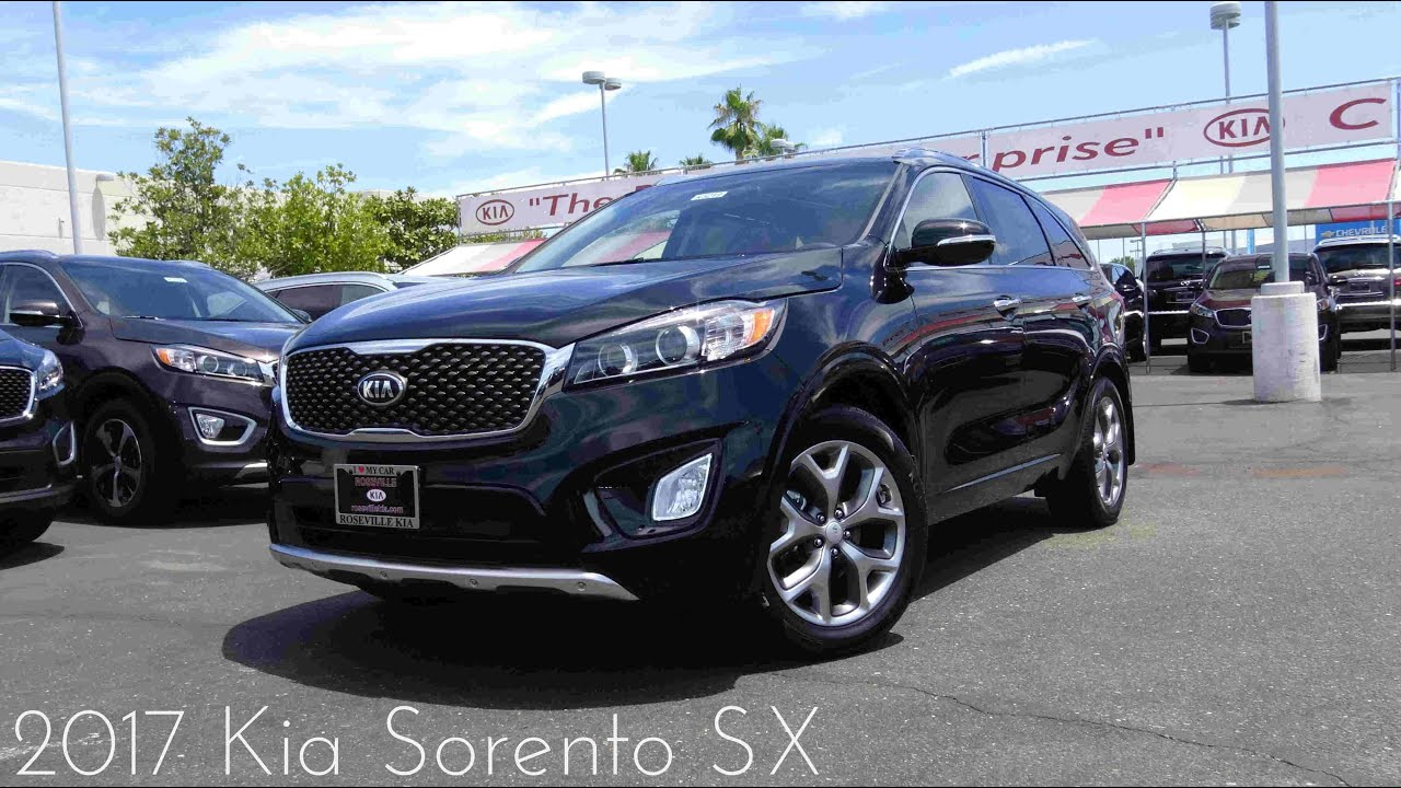 2017 Kia Sorento Sx 3 3 L V6 Walkaround Youtube