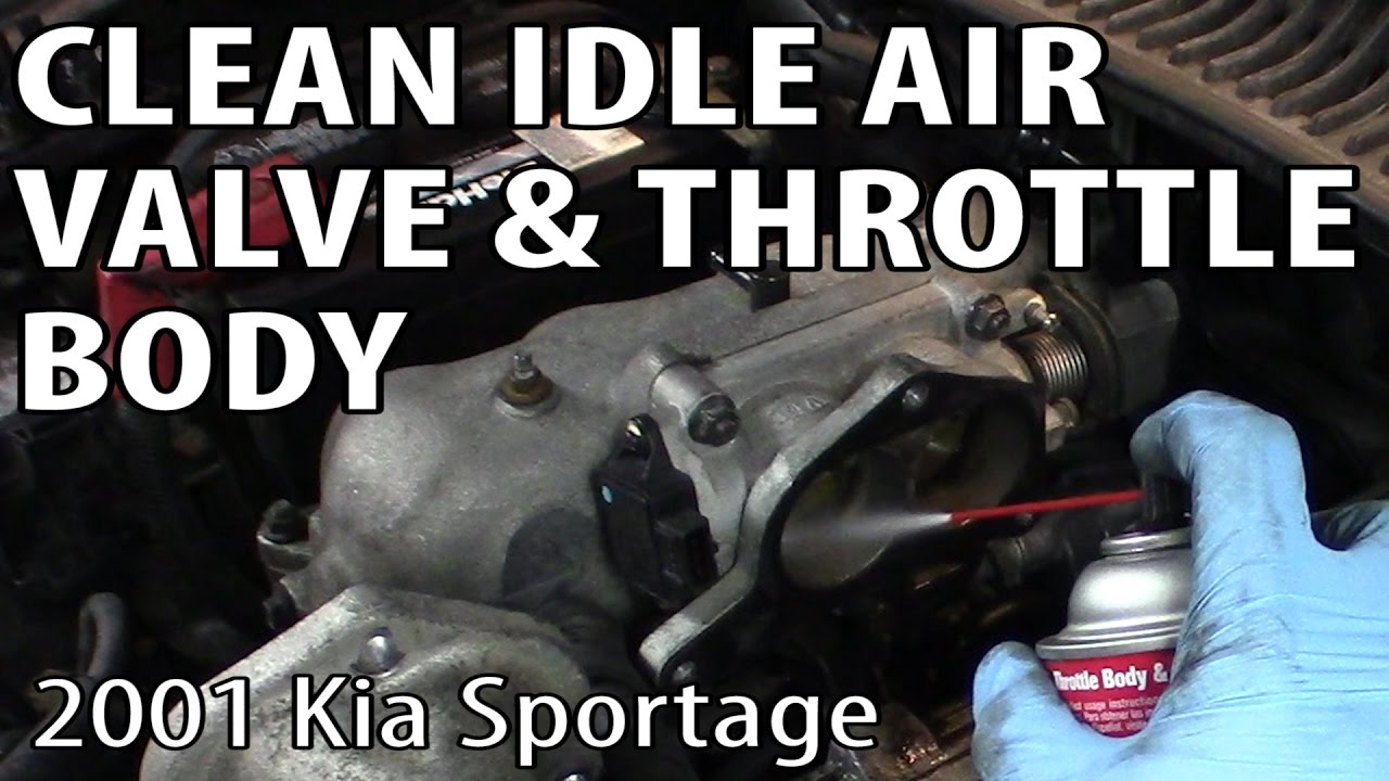 Cleaning an Idle Air Control Valve and Throttle Body (Kia Sportage ...