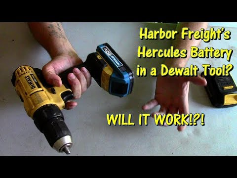 Will Harbor Freight's Hercules 20 Volt Batteries Work in Dewalt Tools? by @GettinJunkDone