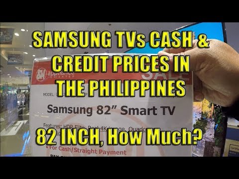 Samsung TVs, Cash And Credit Prices In The Philippines.