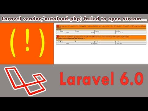 Laravel Vendor/autoload.php) Failed To Open Stream   Windows 10   Wamp Server