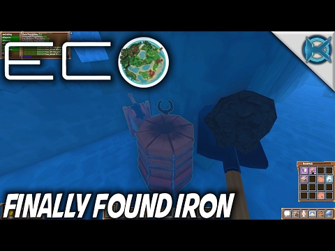 Eco | Finally Found Iron in Water | Let's Play Eco Gameplay | S01E16