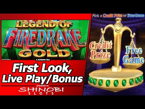 Legend of Firedrake Gold Slot - First Look, Live Play and Free Games with Credit Prize Attempt