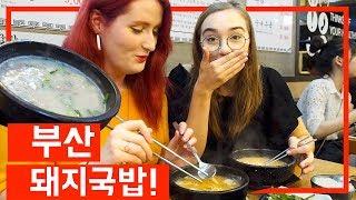 호주친구 에밀리와 부산에 맛있는 돼지국밥 먹방!