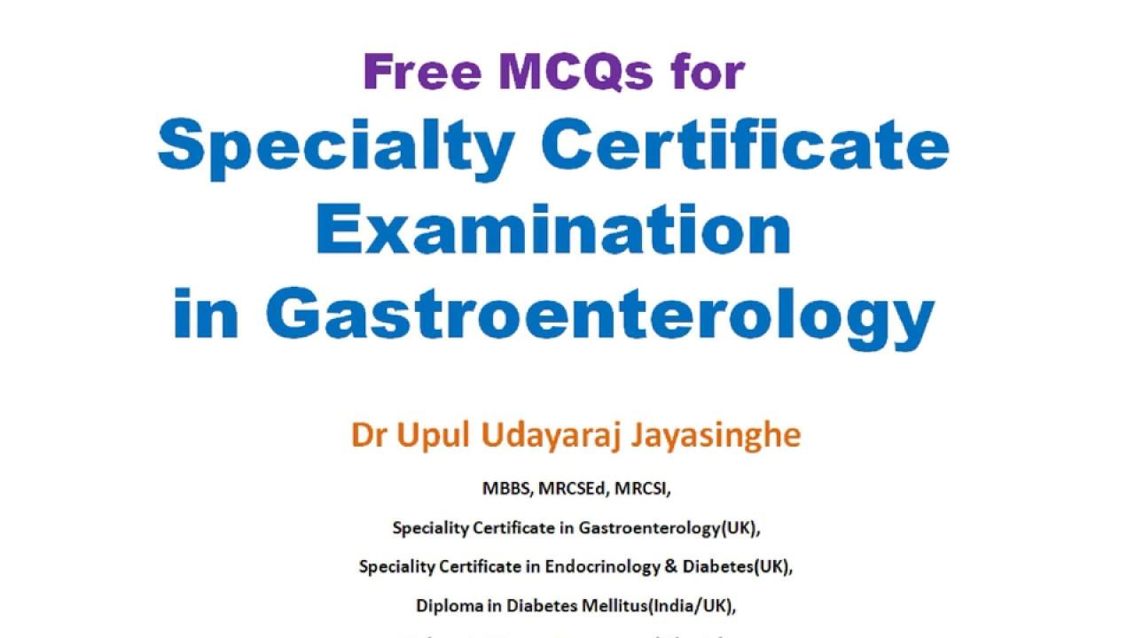 Gastroenterology MCQs for SCE Video – 1 #Gastroenterology