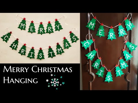 DIY Merry Christmas Garland/How to make Merry Christmas Hanging/Christmas Decoration Ideas