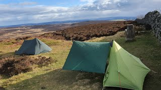 ROS HILL CASTLE NORTHUMBERLAND WILDCAMPING