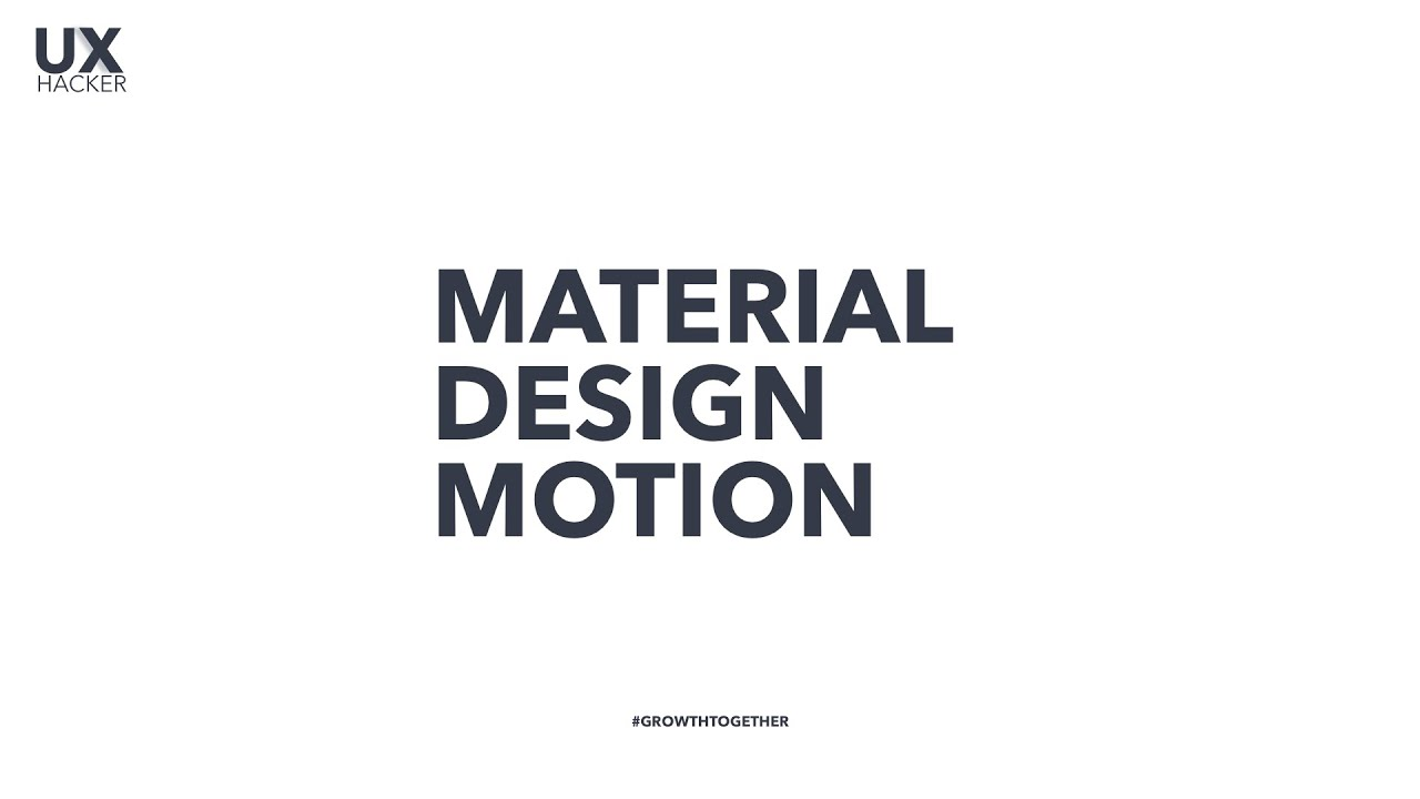 Material Design Motion | Guidelines for Motion