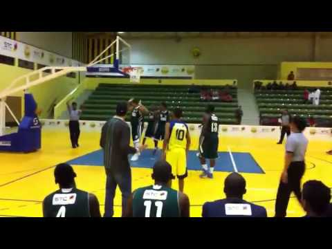 Hassan Makki With AL- AHLI Basketball Team Vs Al Naser