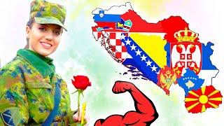 Какая республика бывшей ЮГОСЛАВИИ самая сильная ? 7 мощнейших армий ⭐ Сербия, Хорватия или Словения?