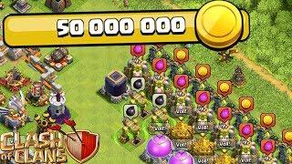 50 MIO GOLD AUSGEBEN! ☆ Clash of Clans ☆ CoC