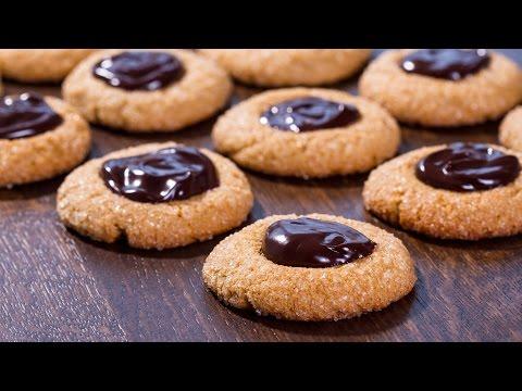 Peanut Butter Chocolate Thumbprint Cookies Recipe