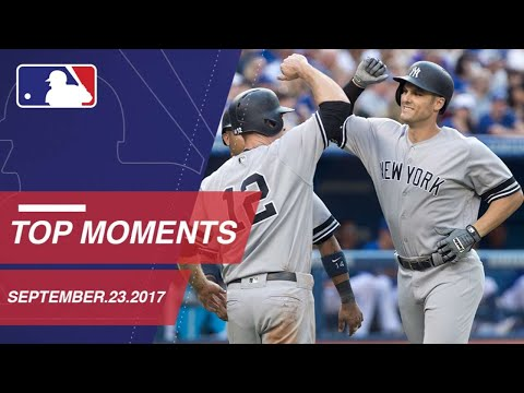 Yanks clinch a WC spot, plus nine more moments from around the Majors: 9/23/17