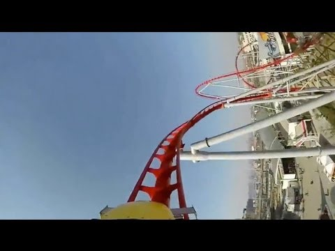 Bullet Roller Coaster POV Happy Valley Wuhan China S&S OCT Thrust SSC1000