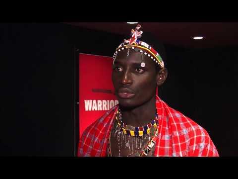 WARRIORS film premiere - James Anderson, Barney Douglas & Maasai cricket captain Sonyanga Ole Ngais