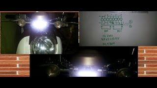 Cara Buat Lampu HeadLamp LED Motor 8 Watt