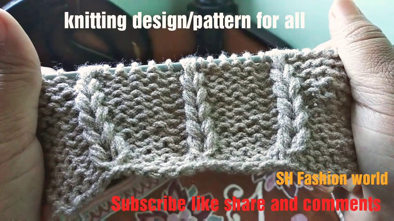 491bb1f58  Knittingpattern  Design for all gents half sweater ladies sweater Design  in Hindi.English subtitles