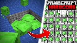 I Built a SLIME FARM in Minecraft Hardcore... (#49)