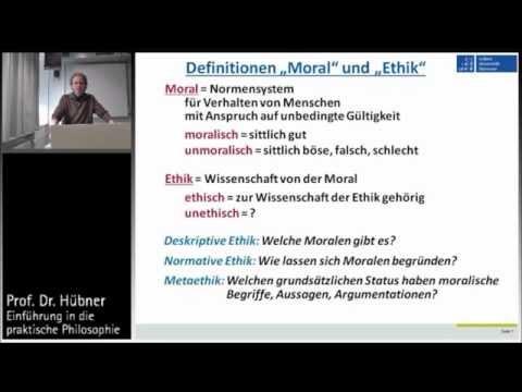 Praktische Philosophie 1a: Ethik und Moral - Begriffsklärungen