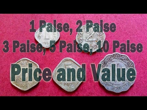 1 Paise, 2 Paise, 3 Paise, 5 Paise, 10 Paise, Aluminium, Price and Value