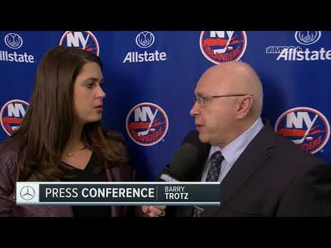 Barry Trotz Critiques Isles' Win Over Blues | New York Islanders Postgame