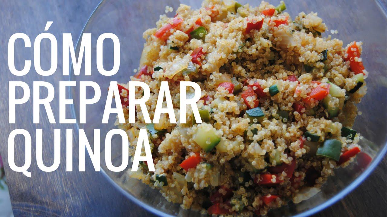 C mo preparar quinoa con verduras youtube for Que cocinar con verduras