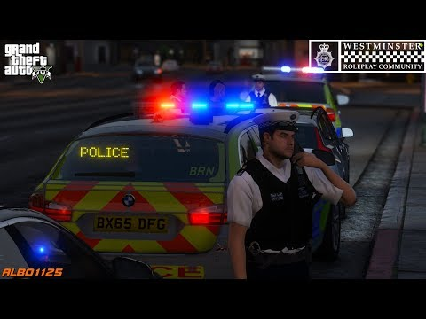 GTA5 Roleplay (Police) - Stolen Car Boxed & Provocative Cameraman - Westminster RPC E6