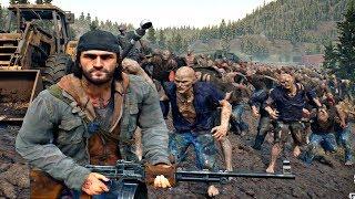 Days Gone   Junkyard Zombie Horde Boss Fight Days Gone 2019 PS4 Pro
