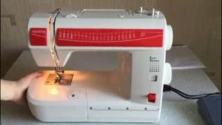 видео швейная машина Toyota ERGO15D