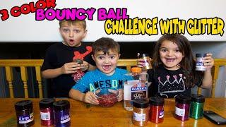 3 GLITTER SUPER BOUNCY BALL challenge!