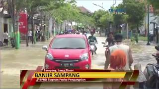 Akibat Luapan Kali Kemuning, Sampang Dilanda Banjir