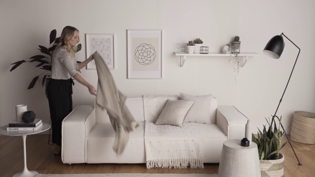 How To Style Your Living E With Cushions And Throws