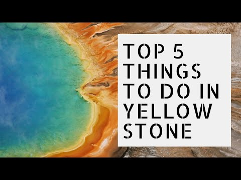 Top 5 Things To Do In Yellowstone National Park