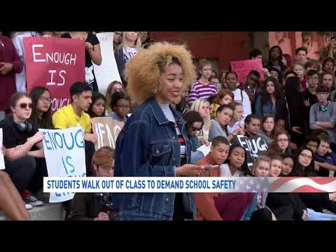 Student walk-out at Las Vegas Academy