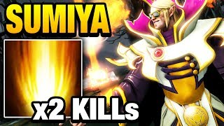 SUMiYa Invoker Dota 2 - Sunstrike Double Kill Headshot [2games]