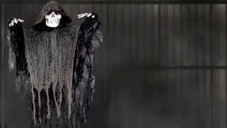 Hanging Black Shaking Reaper - Halloween Decorations | Trendyhalloween.com