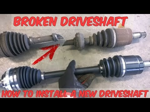 How to Install A New Driveshaft In A Honda Civic – DIY