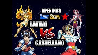 Openings Saint Seiya ✪/ LATINO VS CASTELLANO