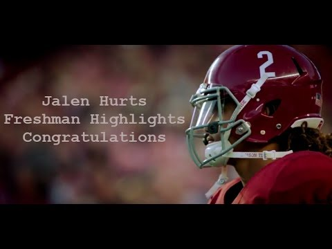 "Ultimate Jalen Hurts Football Highlights ""Congratulations"" Freshman Season"