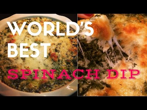THE WORLD'S BEST SPINACH AND ARTICHOKE DIP!