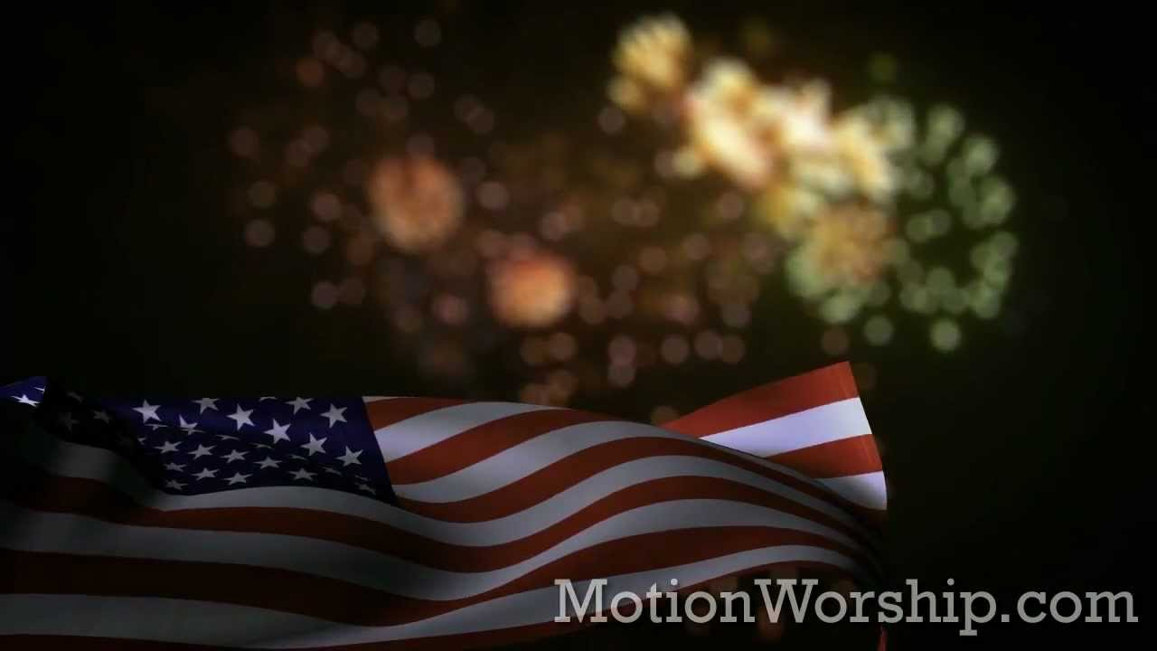 usa flag fireworks hd looping background by motion worship youtube