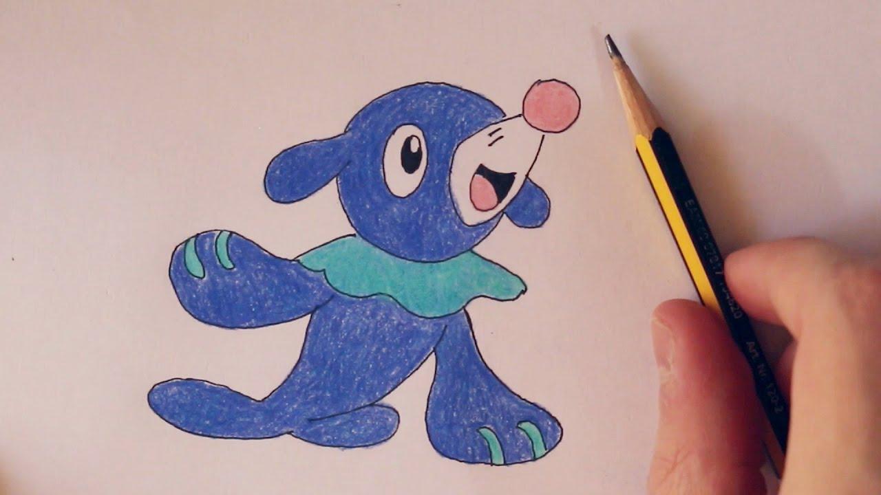 Speed Drawing Popplio Pokémon Sun And Moon Shidolionheart