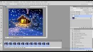 Падающий снег анимация в фотошопе(В уроке показываю как сделать анимацию падающего снега в фотошопе., 2013-12-12T06:04:46.000Z)