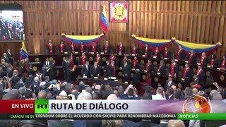 Maduro juró como presidente del país en medio de presiones externas