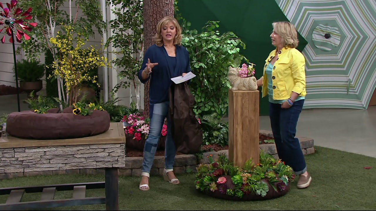 quick garden flower bed halo on qvc